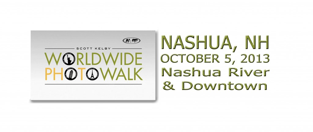 Join us on October 5, 2013 in Nashua, Nh for the Scott Kelby Worldwide Photowalk