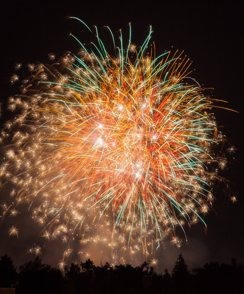 Fireworks photography  used to illustrate the Fireworks Photo Tips article  written by pro photographer Dan Splaine  ©2014 Daniel J. Splaine - All Rights Reserved