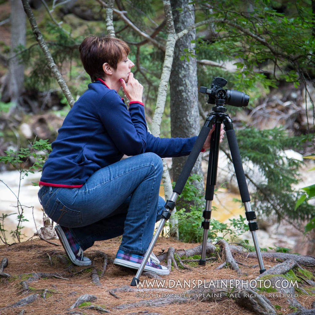 Photography student having some summer photography fun at a landscape photo workshop presented by professional photographer Dan Splaine in New Hampshire's White Mountains.  ©2014 Daniel J. Splaine - All Rights Reserved