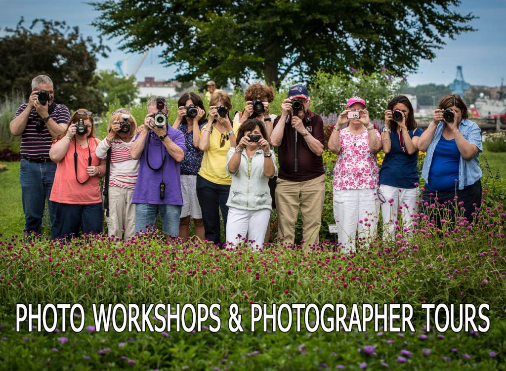 Group photo of aspiring photographers who attended a recent photo workshop in NH with pro photographer Dan Splaine.  In this blog post he lists the New Hampshire August Photo Workshops and Events that he has scheduled with links to registration and information pages. ©2014 Daniel J. Splaine  - All Rights Reserved